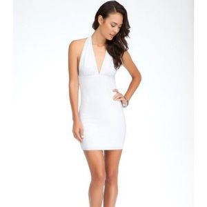 Bebe XS studded halter dress